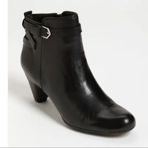 Sam Edelman Leather Maddox Ankle Boots Black